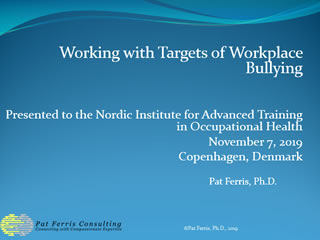 working with targets of workplace bullying