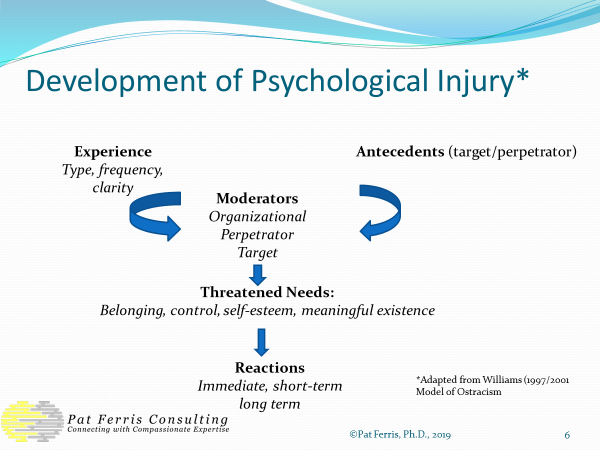 development of psychological injury