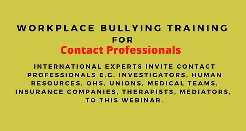 Workplace Bullying: Training for Contact Professionals